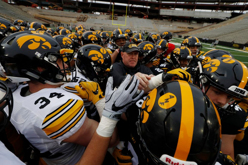 Iowa Hawkeyes strength and conditioning coordinator Chris Doyle during the final spring practice Friday, April 20, 2018 at Kinnick Stadium. (Brian Ray/hawkeyesports.com)