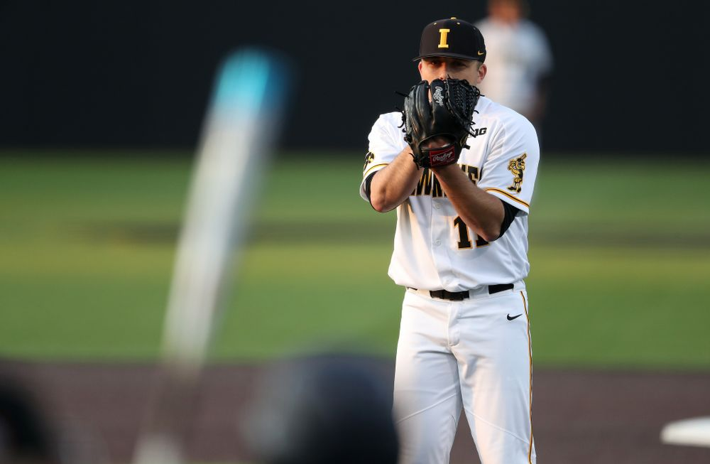 during game one against UC Irvine Friday, May 3, 2019 at Duane Banks Field. (Brian Ray/hawkeyesports.com)