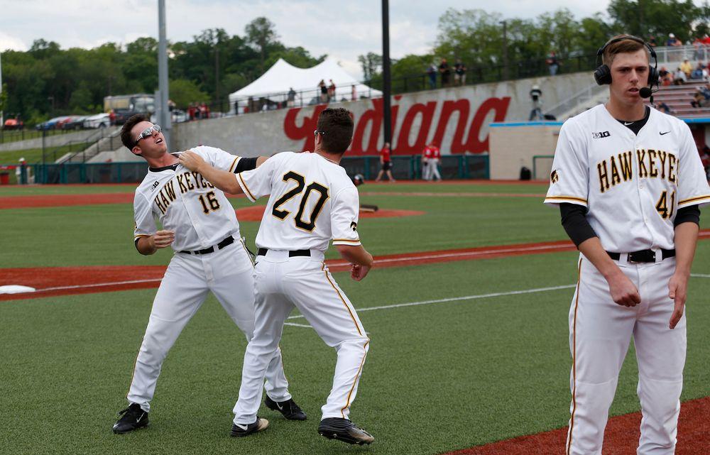 Austin Guzzo (20), Zach Fricke (16), Ryan Erickson (41)