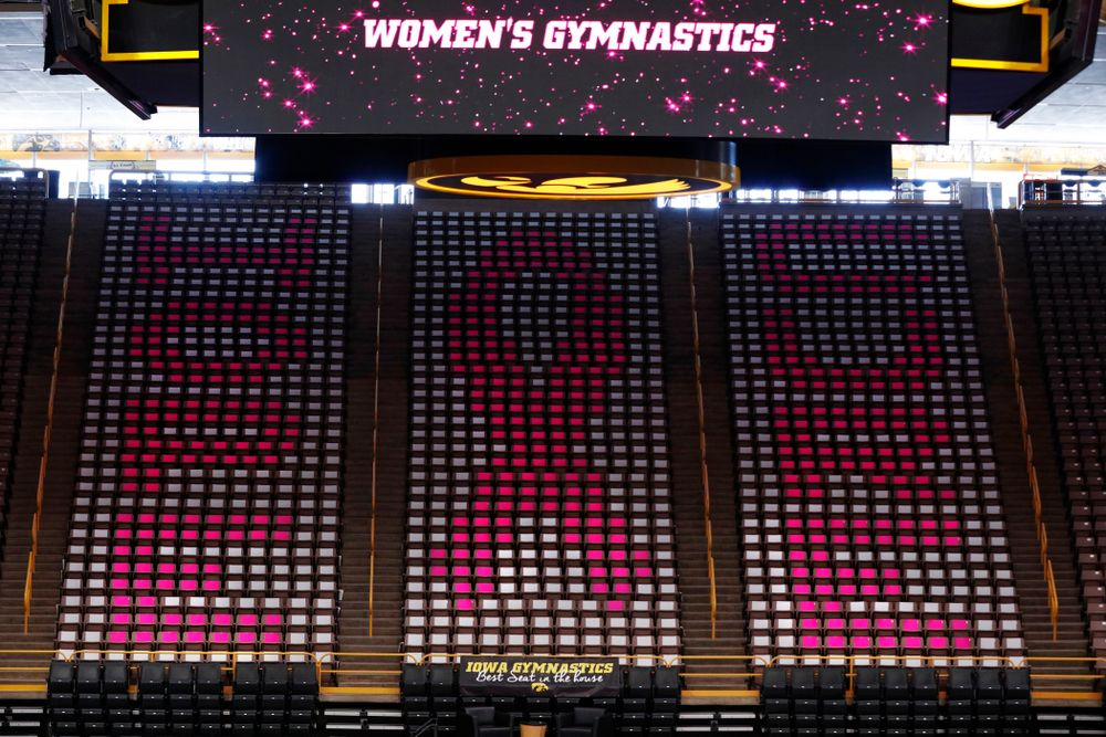 Iowa Women's Gymnastics Pink Meet vs Ball State