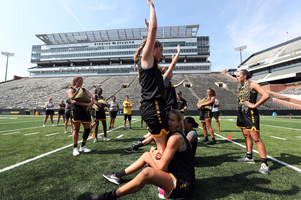 The Iowa WomenÕs Basketball Team participates in the The Program Tuesday, September 17, 2019 at Kinnick Stadium (Brian Ray/hawkeyesports.com)