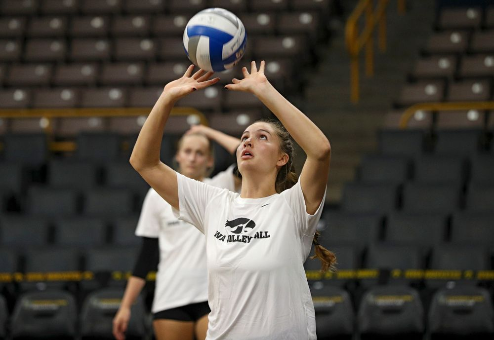 Iowa's Blythe Rients (11) during Iowa Volleyball's Media Day at Carver-Hawkeye Arena in Iowa City on Friday, Aug 23, 2019. (Stephen Mally/hawkeyesports.com)