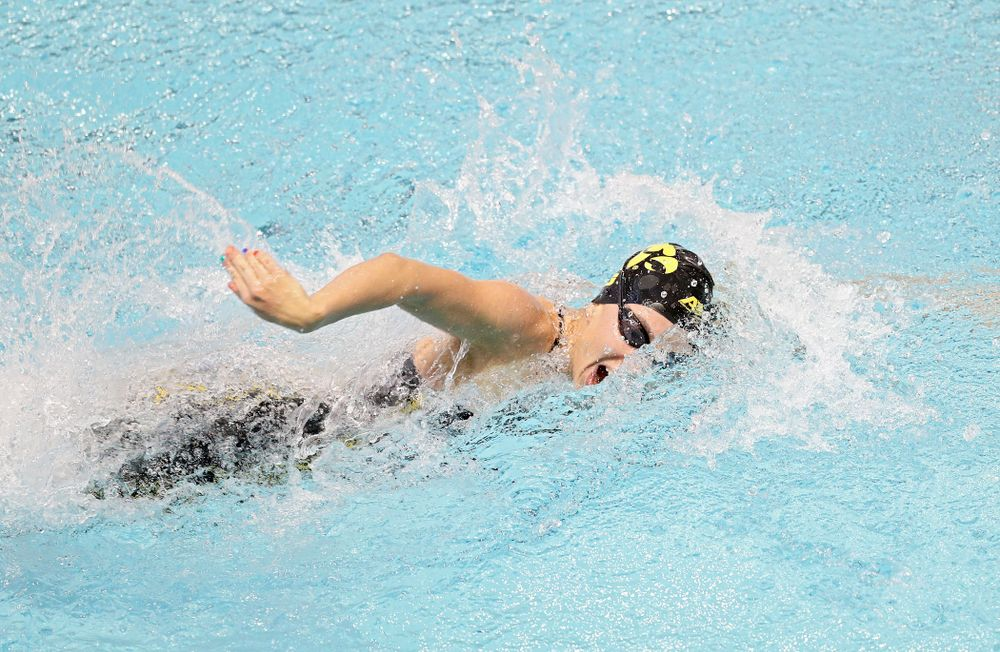 Iowa's Meghan Hackett swims the women's 50 yard freestyle preliminary event during the 2020 Women's Big Ten Swimming and Diving Championships at the Campus Recreation and Wellness Center in Iowa City on Thursday, February 20, 2020. (Stephen Mally/hawkeyesports.com)