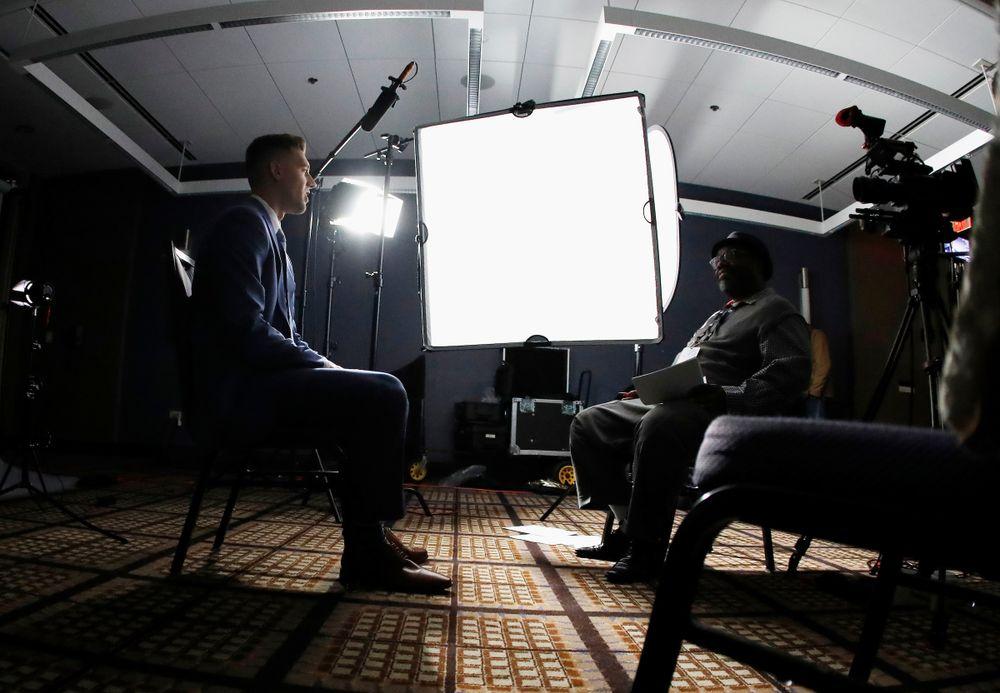 Jordan Bohannon 2018-19 Big Ten Men's Basketball Media Day Steve Woltmann/Big Ten Conference