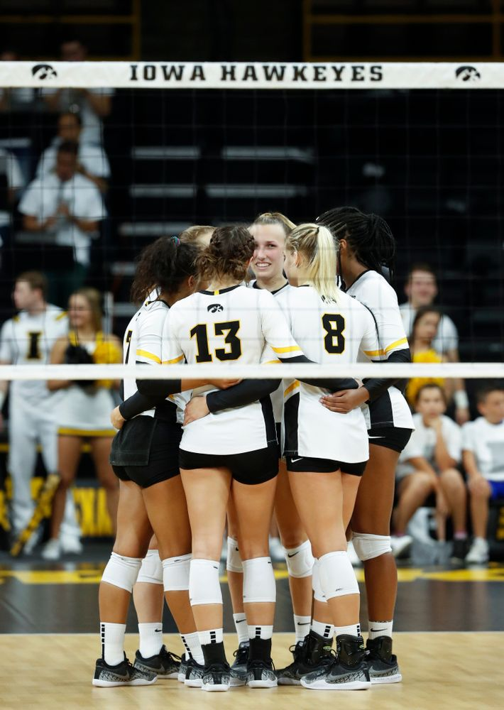 The Iowa Hawkeyes against the Michigan State Spartans Friday, September 21, 2018 at Carver-Hawkeye Arena. (Brian Ray/hawkeyesports.com)