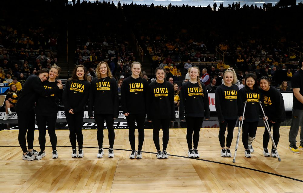 Iowa Women's Gymnastics during the PCA recognition