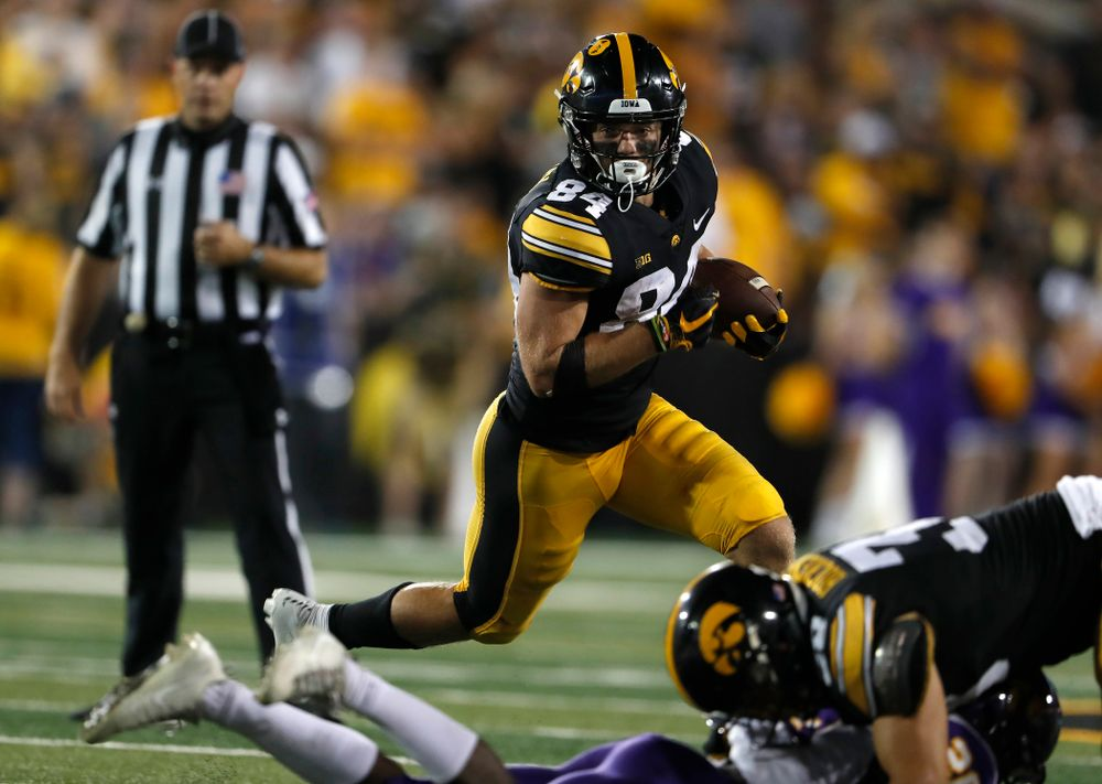 Iowa Hawkeyes wide receiver Nick Easley (84) against the Northern Iowa Panthers Saturday, September 15, 2018 at Kinnick Stadium. (Brian Ray/hawkeyesports.com)