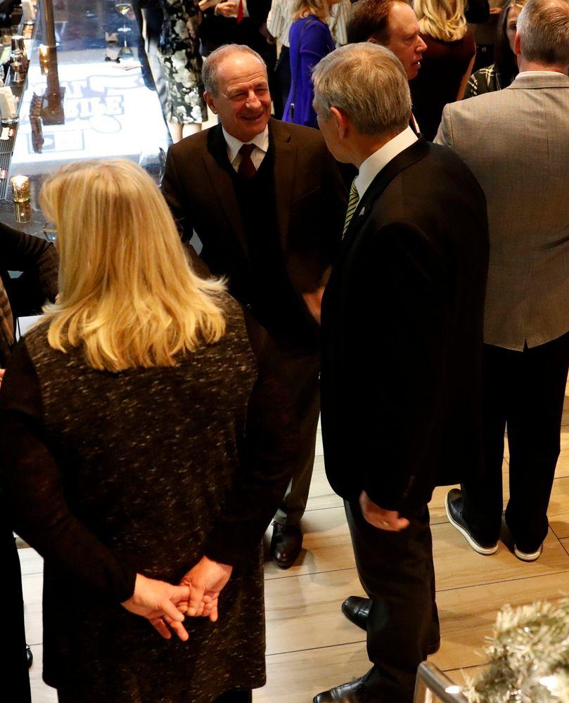 Jim Reid, Kirk Ferentz -- President's Welcome Reception at Yankees Steakhouse