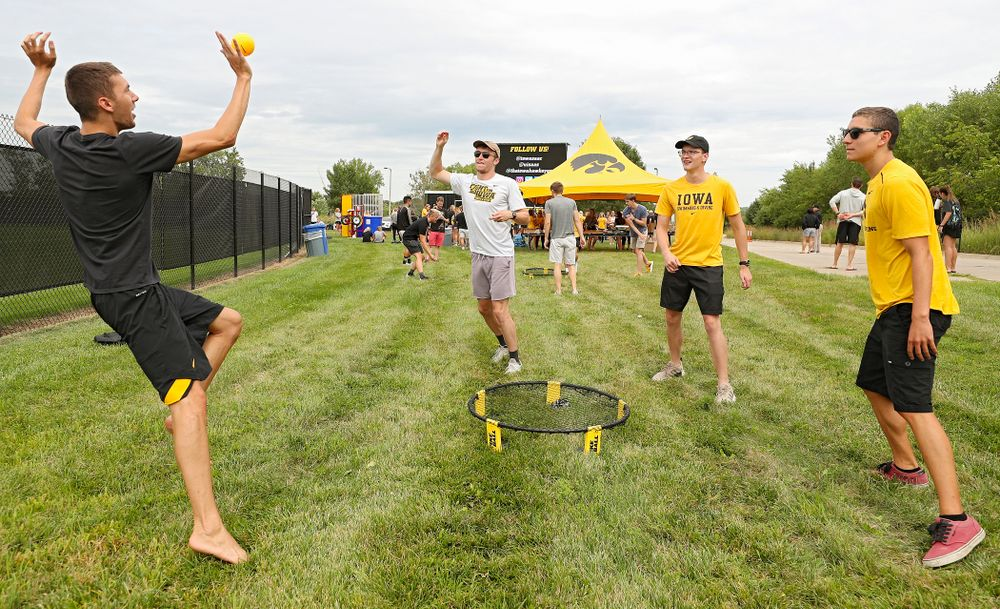 Student-athletes play Spike Ball during the Student-Athlete Kickoff outside the Karro Athletics Hall of Fame Building in Iowa City on Sunday, Aug 25, 2019. (Stephen Mally/hawkeyesports.com)