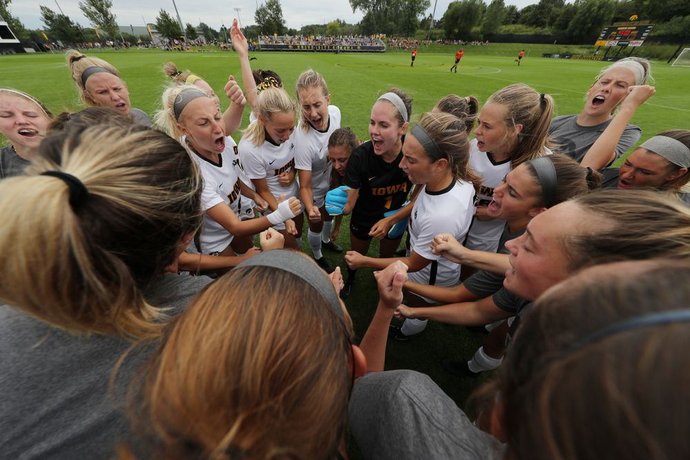 The Iowa Hawkeyes during a 6-1 win over Northern Iowa Sunday, August 25, 2019 at the Iowa Soccer Complex. (Brian Ray/hawkeyesports.com)