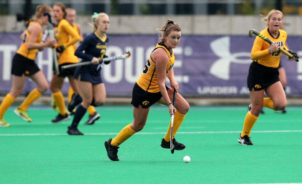 Iowa Hawkeyes Maddy Murphy (26) against the Michigan Wolverines in the semi-finals of the Big Ten Tournament Friday, November 2, 2018 at Lakeside Field on the campus of Northwestern University in Evanston, Ill. (Brian Ray/hawkeyesports.com)