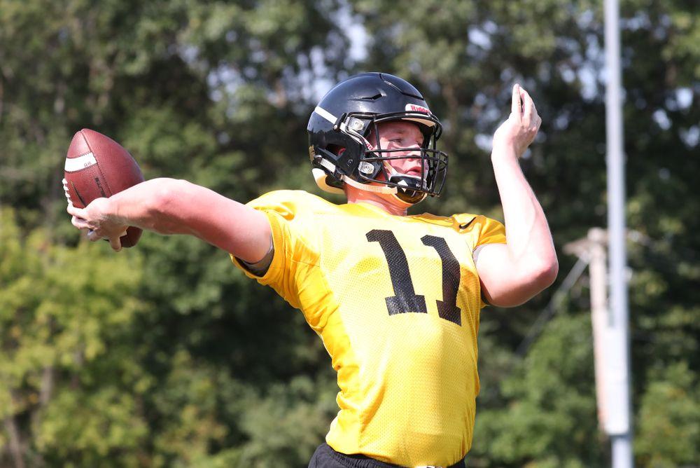 Iowa Hawkeyes quarterback Connor Kapisak (11)