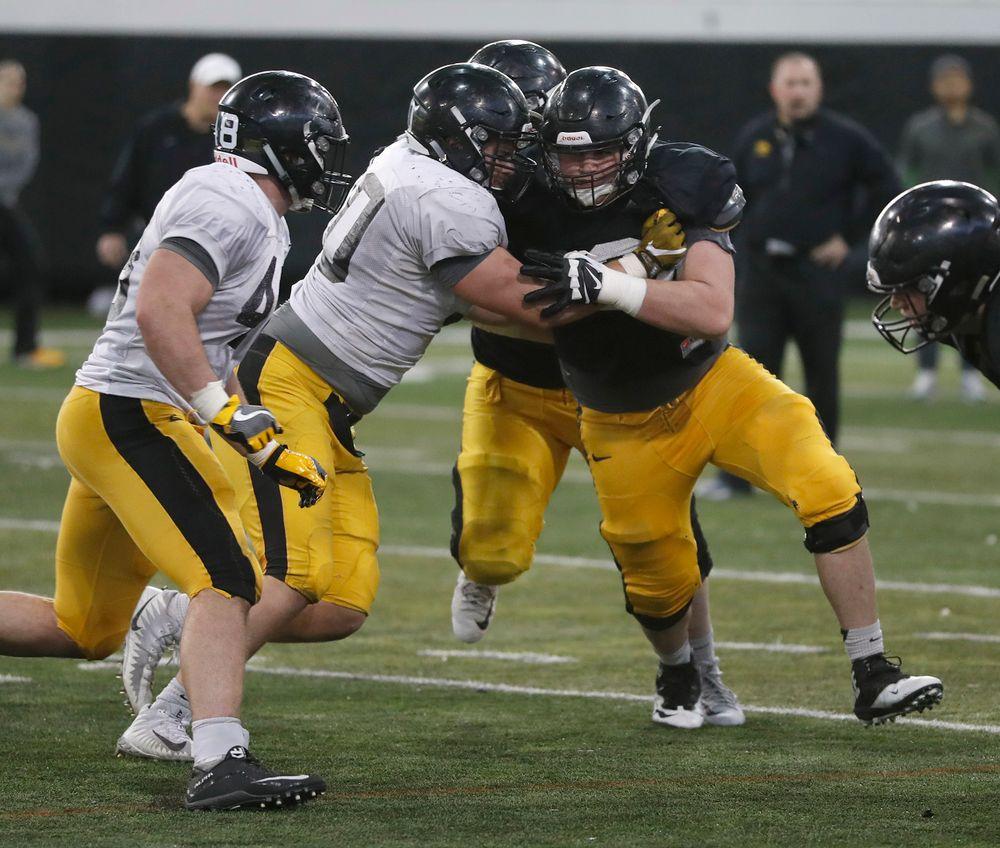 Iowa football Practice No. 9 on April 6, 2018. (Darren Miller/hawkeyesports.com)