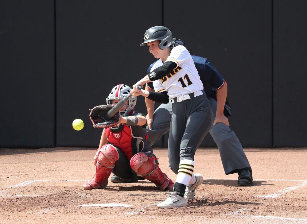 Iowa Hawkeyes Mallory Kilian (11) against the Ohio State Buckeyes on senior day Sunday, May 5, 2019 at Pearl Field. (Brian Ray/hawkeyesports.com)