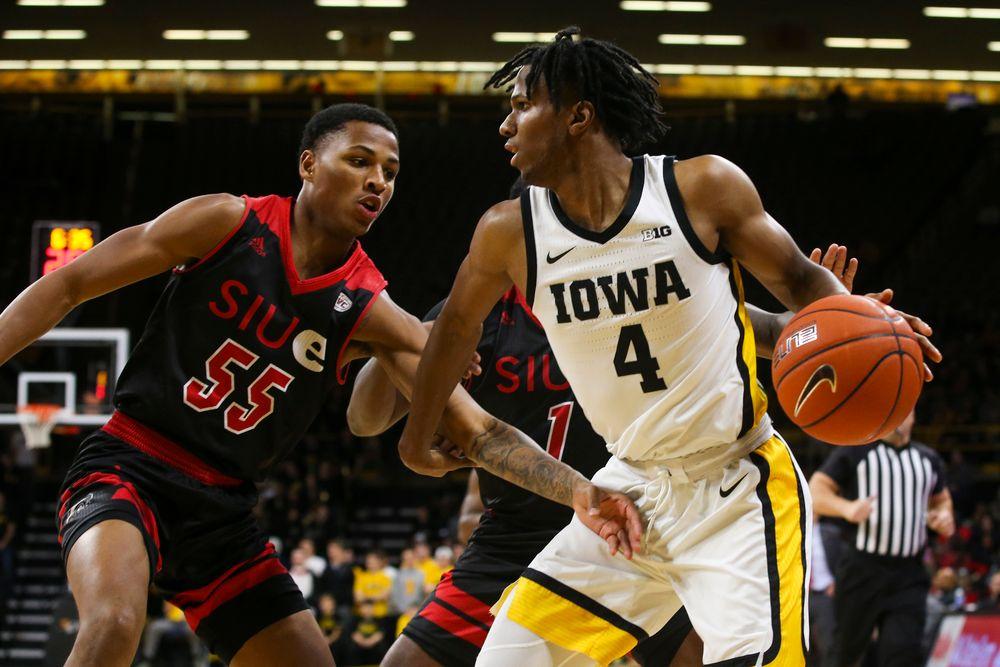 Iowa Hawkeyes guard Bakari Evelyn (4) during Iowa men's basketball vs SIUE on Friday, November 8, 2019 at Carver-Hawkeye Arena. (Lily Smith/hawkeyesports.com)