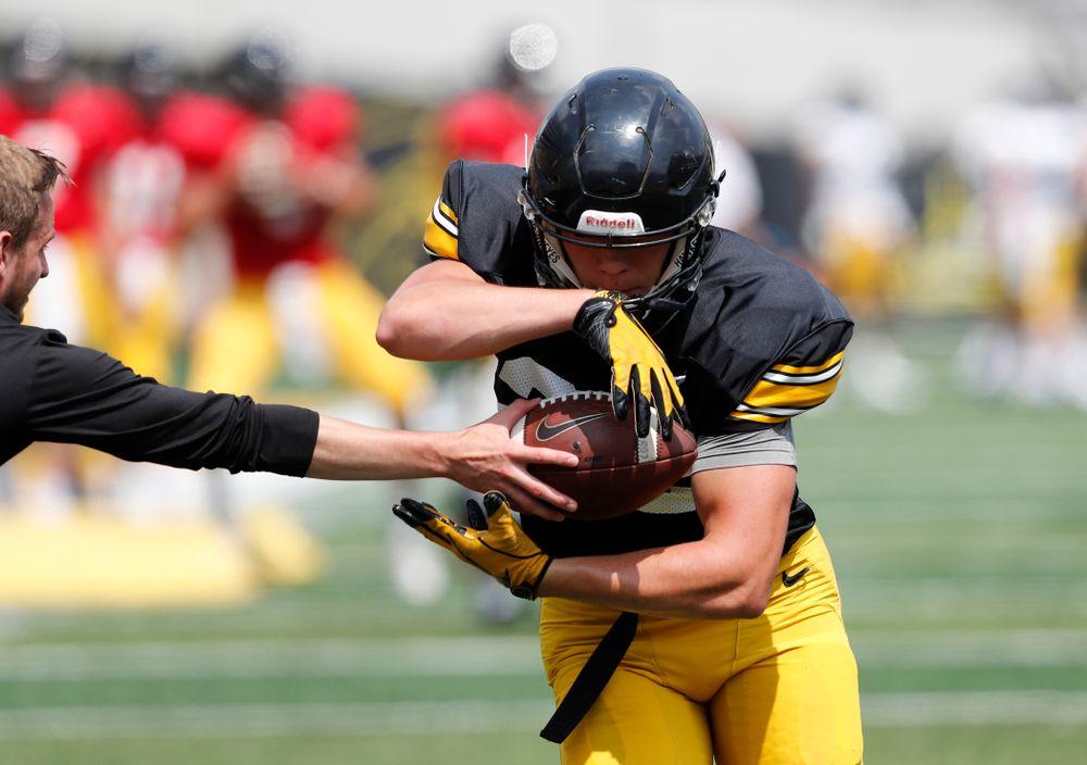 Iowa Hawkeyes running back Samson Evans (22) during Kids Day Saturday, August 11, 2018 at Kinnick Stadium. (Brian Ray/hawkeyesports.com)