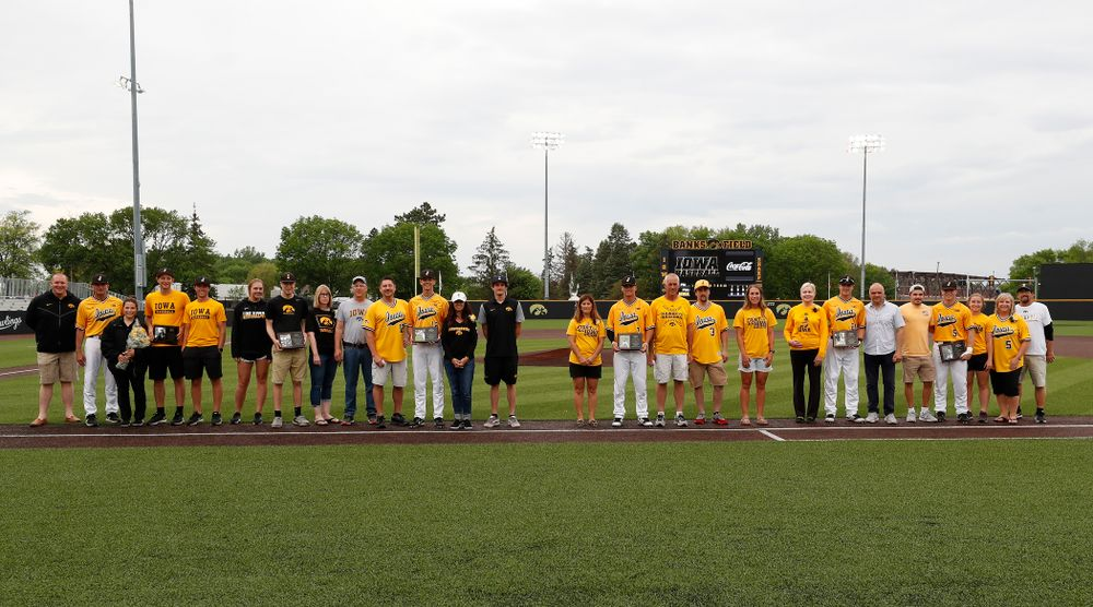 Senior day activities before their game against the Penn State Nittany Lions Saturday, May 19, 2018 at Duane Banks Field. (Brian Ray/hawkeyesports.com)