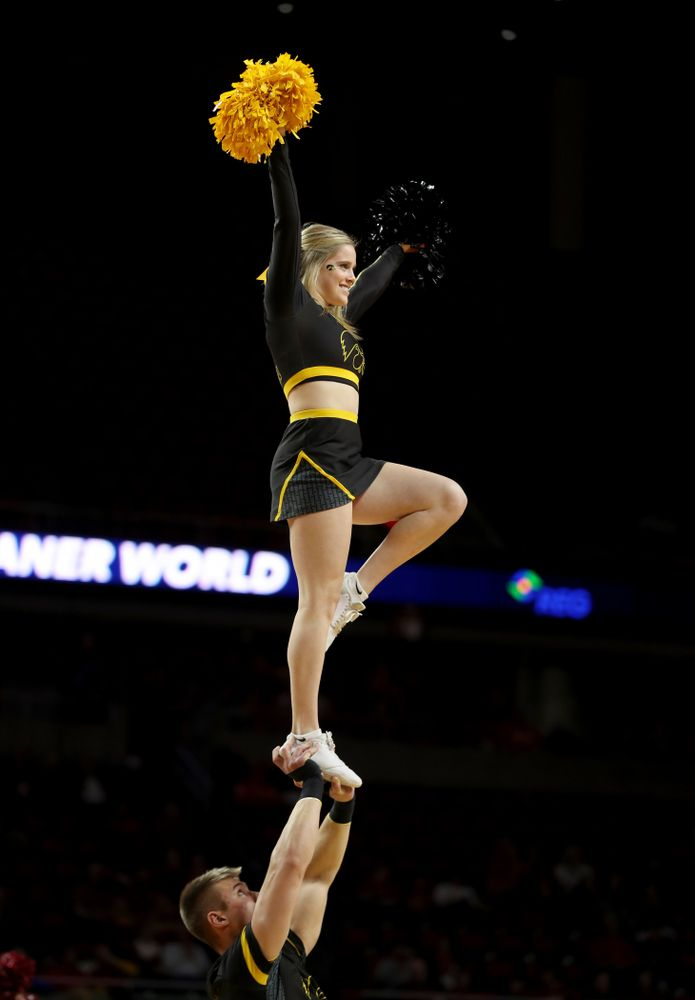 The Iowa Spirit Squad against the Iowa State Cyclones Wednesday, December 11, 2019 at Hilton Coliseum in Ames, Iowa(Brian Ray/hawkeyesports.com)