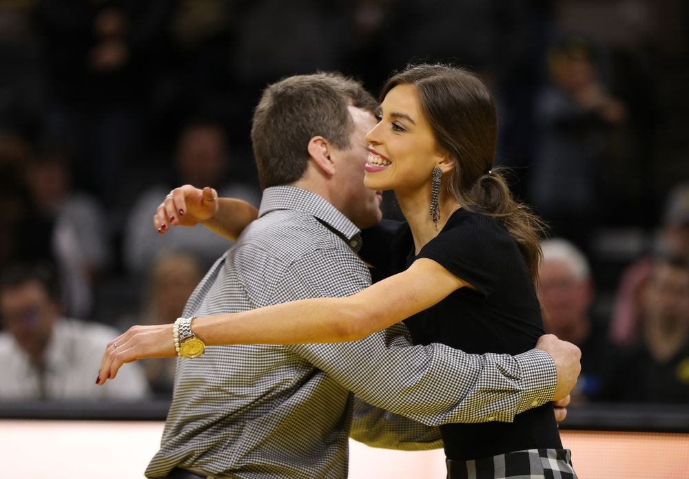 Iowa senior manager Elise Owens against the Indiana Hoosiers Friday, February 15, 2019 at Carver-Hawkeye Arena. (Brian Ray/hawkeyesports.com)