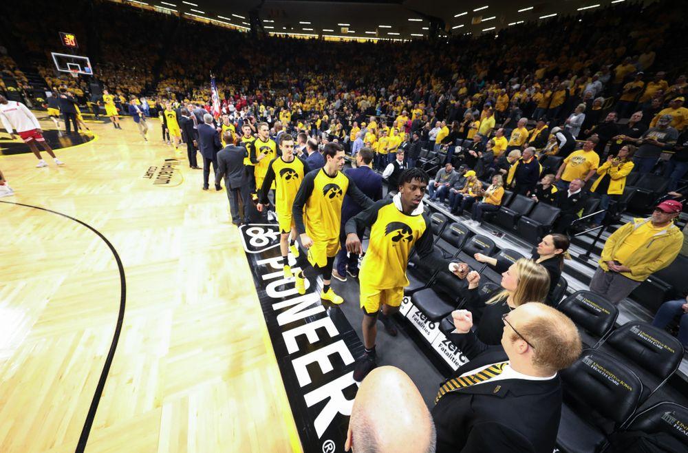 The Iowa Hawkeyes against the Wisconsin Badgers Friday, November 30, 2018 at Carver-Hawkeye Arena. (Brian Ray/hawkeyesports.com)