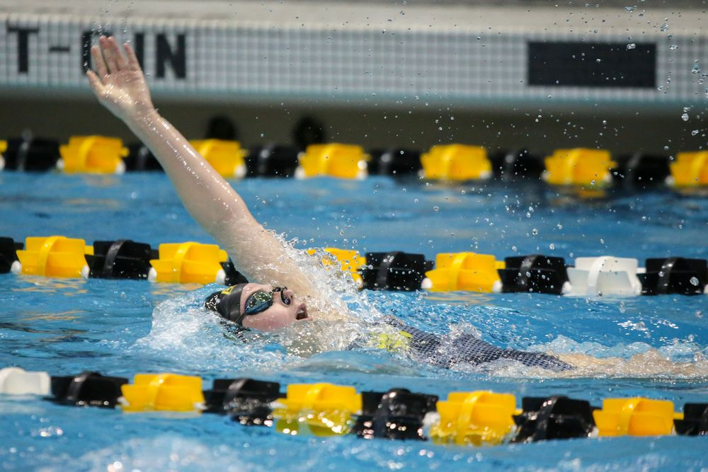 Anna Brooker during Iowa women's swimming and diving vs Rutgers on Friday, November 8, 2019 at the Campus Wellness and Recreation Center. (Lily Smith/hawkeyesports.com)