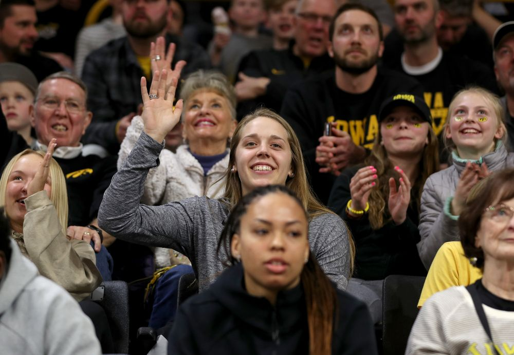 Big Ten Player of Year Kathleen Doyle against the Purdue Boilermakers Tuesday, March 3, 2020 at Carver-Hawkeye Arena. (Brian Ray/hawkeyesports.com)