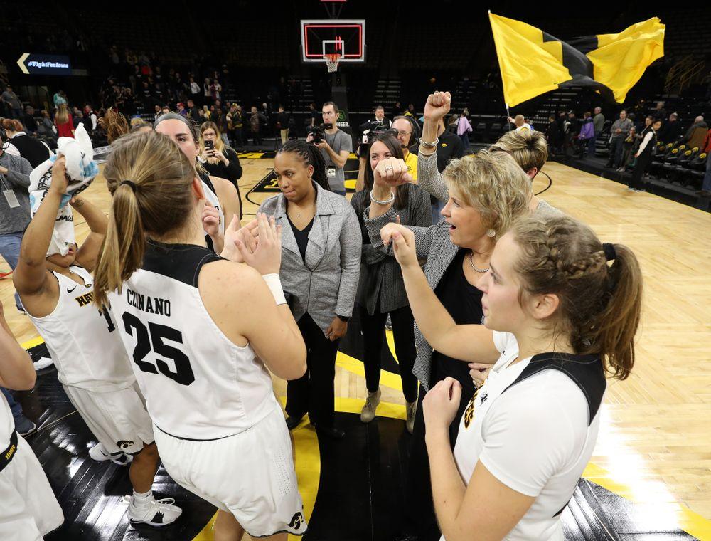 Iowa Hawkeyes head coach Lisa Bluder against the Wisconsin Badgers Monday, January 7, 2019 at Carver-Hawkeye Arena.  (Brian Ray/hawkeyesports.com)