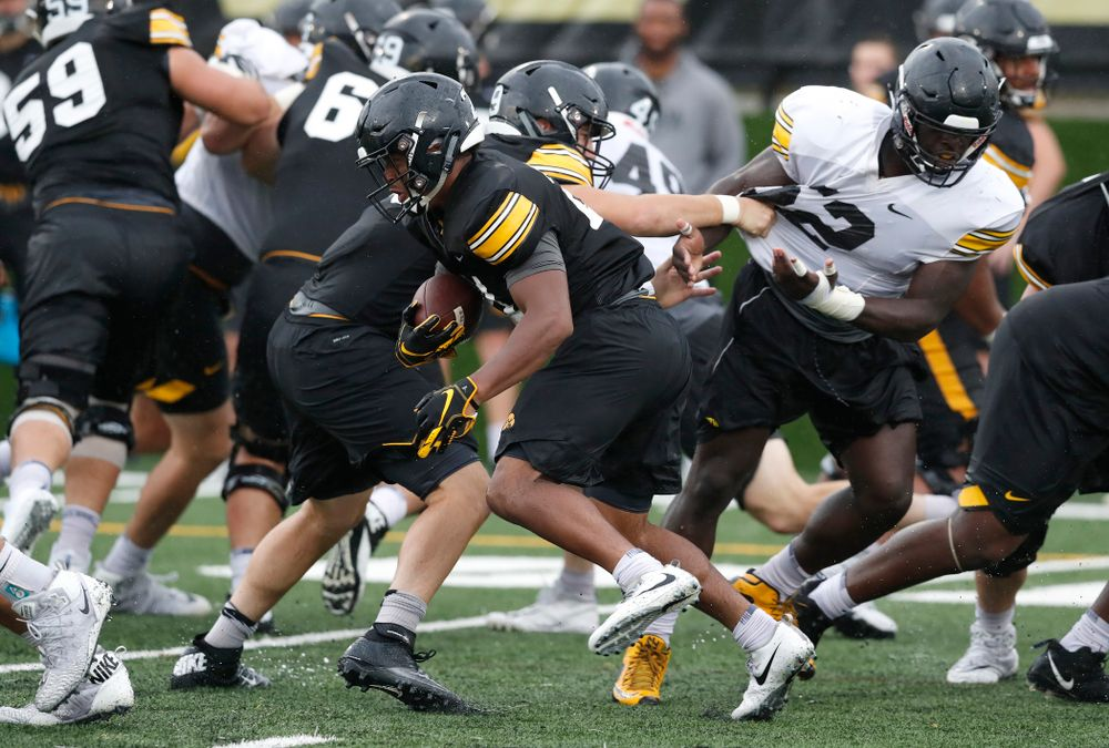 Iowa Hawkeyes running back Ivory Kelly-Martin (21) during camp practice No. 15  Monday, August 20, 2018 at the Hansen Football Performance Center. (Brian Ray/hawkeyesports.com)
