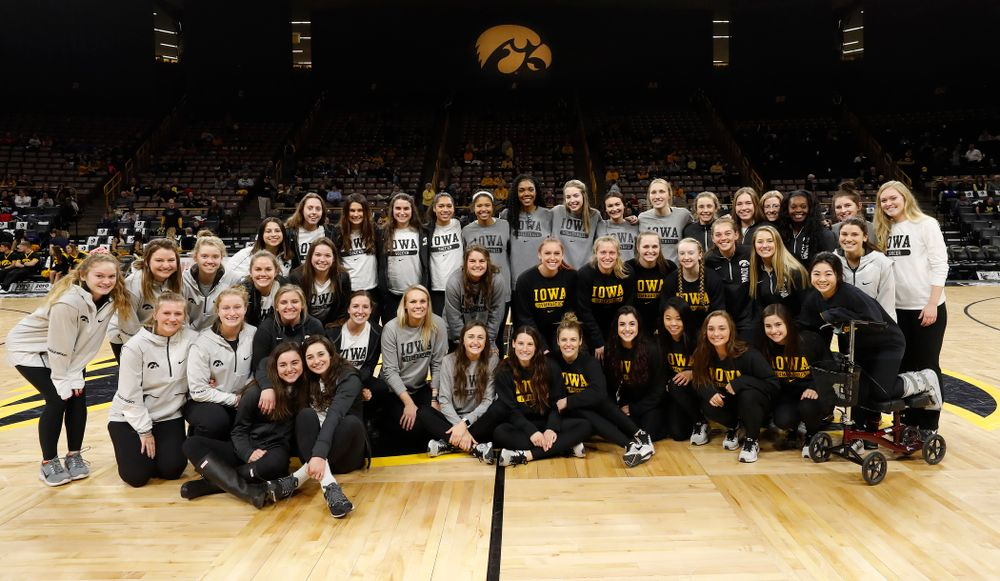 The Iowa Field Hockey, Soccer, Gymnastics, Tennis, and Volleyball teams are recognized for National Girls and Women in Sports Day