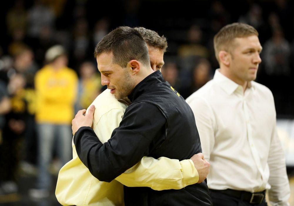 Iowa's Danny Murphy during senior day activities Sunday, February 23, 2020 at Carver-Hawkeye Arena. (Brian Ray/hawkeyesports.com)