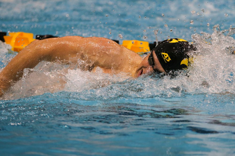 Iowa's Jackson Allmon during Iowa swim and dive vs Minnesota on Saturday, October 26, 2019 at the Campus Wellness and Recreation Center. (Lily Smith/hawkeyesports.com)
