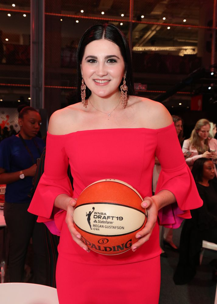 Iowa Hawkeyes forward Megan Gustafson (10) during the 2019 WNBA Draft Wednesday, April 10, 2019 at Nike New York Headquarters in New York City. (Brian Ray/hawkeyesports.com)