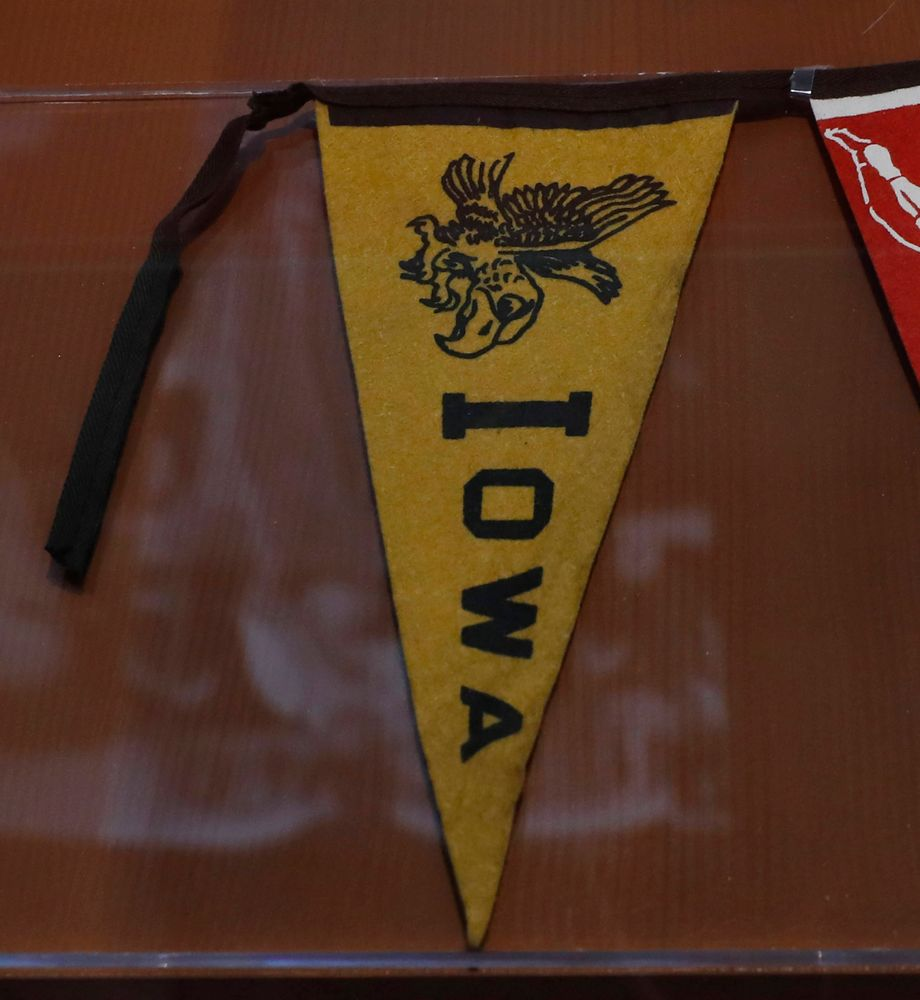 Iowa pennant at the College Football Hall of Fame.