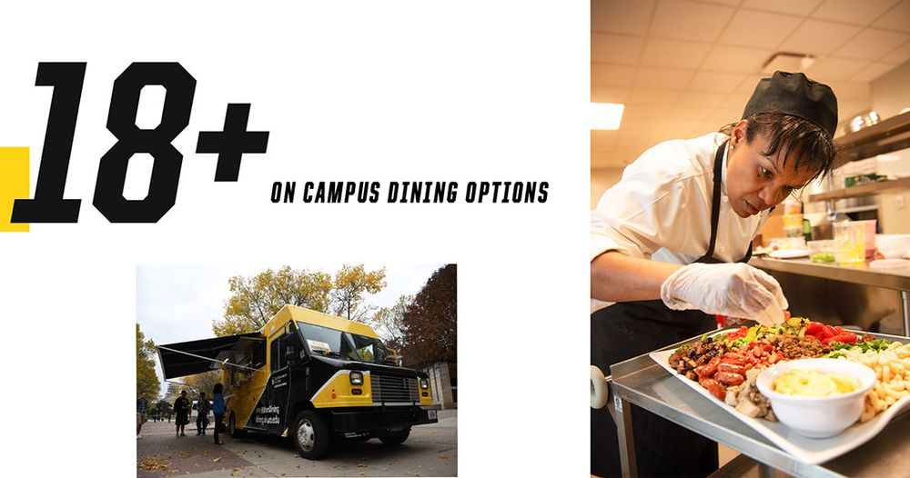 18+ on campus dining options