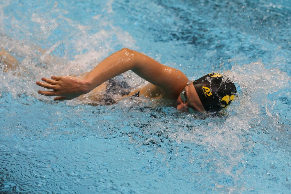 Iowa's Macy Rink during Iowa swim and dive vs Minnesota on Saturday, October 26, 2019 at the Campus Wellness and Recreation Center. (Lily Smith/hawkeyesports.com)