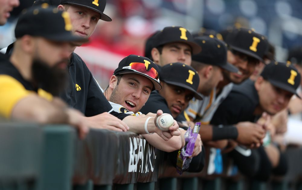 Iowa Hawkeyes Connor McCaffery (30) against the Indiana Hoosiers in the first round of the Big Ten Baseball Tournament Wednesday, May 22, 2019 at TD Ameritrade Park in Omaha, Neb. (Brian Ray/hawkeyesports.com)