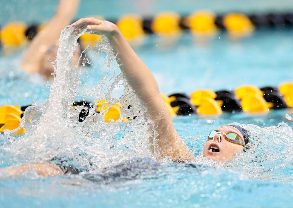 Iowa's Anna Brooker swims in the women's 200 yard backstroke preliminary event during the 2020 Women's Big Ten Swimming and Diving Championships at the Campus Recreation and Wellness Center in Iowa City on Saturday, February 22, 2020. (Stephen Mally/hawkeyesports.com)