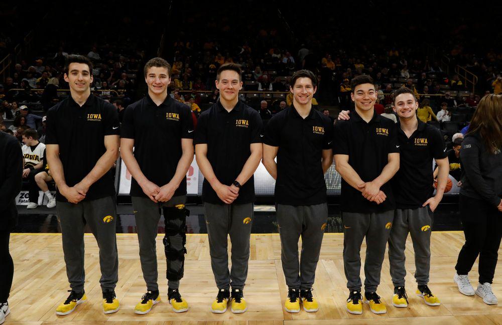 Iowa Men's Gymnastics during the PCA recognition