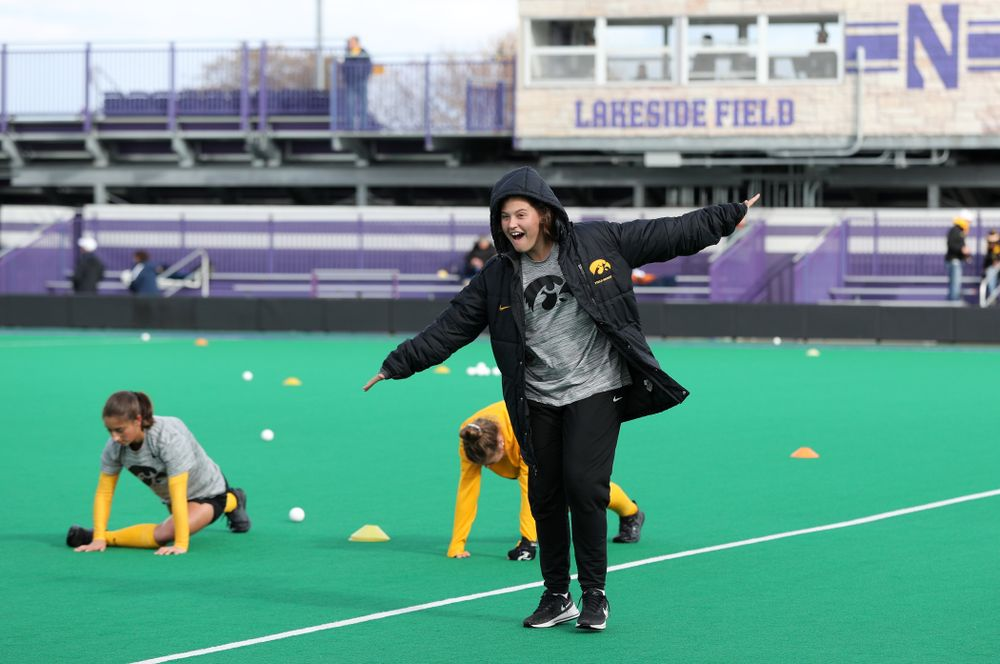 Iowa Hawkeyes Grace McGuire (62) against the Michigan Wolverines in the semi-finals of the Big Ten Tournament Friday, November 2, 2018 at Lakeside Field on the campus of Northwestern University in Evanston, Ill. (Brian Ray/hawkeyesports.com)