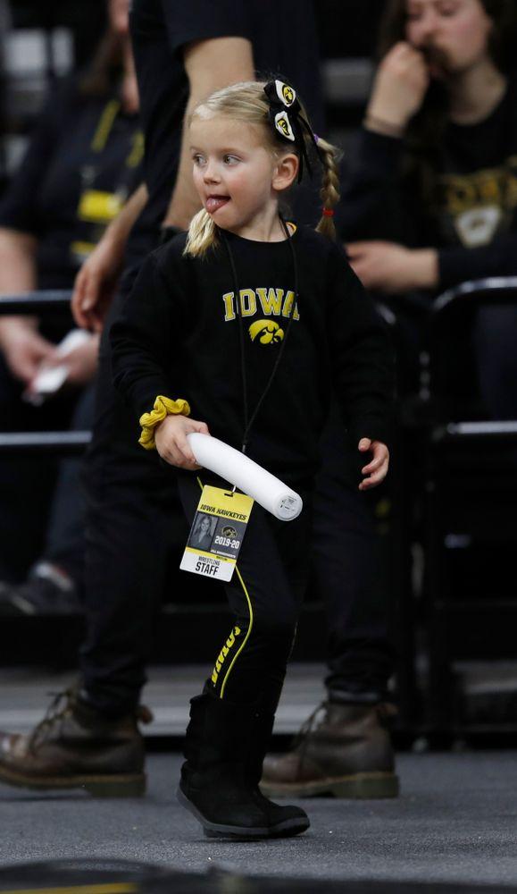 A young Hawkeye wrestling fan