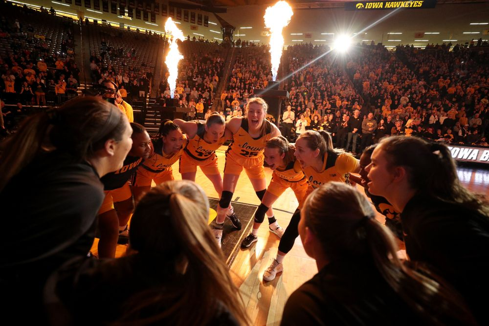 The Iowa Hawkeyes against the Minnesota Golden Gophers Thursday, February 27, 2020 at Carver-Hawkeye Arena. (Brian Ray/hawkeyesports.com)