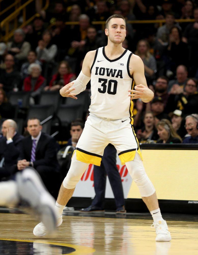 Iowa Hawkeyes guard Connor McCaffery (30) against Penn State Saturday, February 29, 2020 at Carver-Hawkeye Arena. (Brian Ray/hawkeyesports.com)