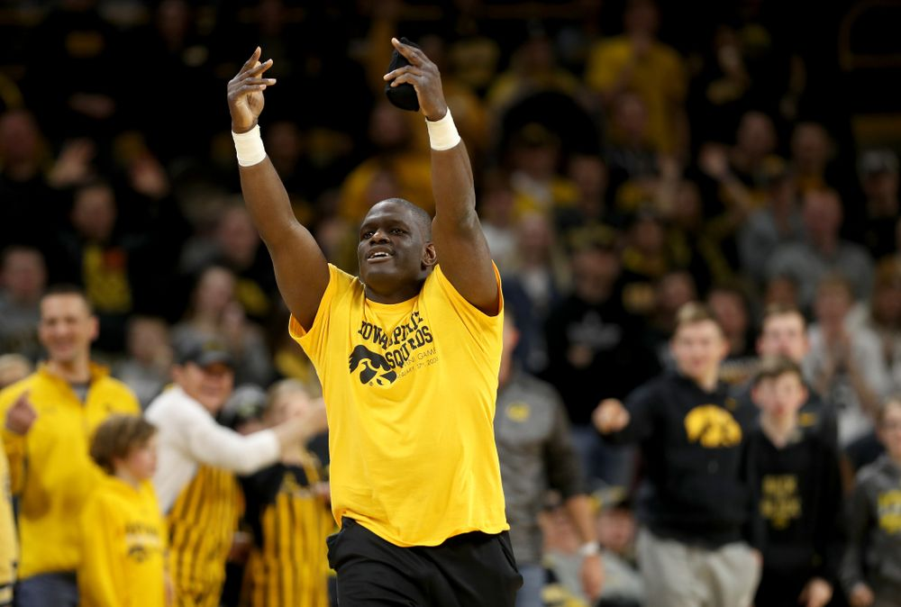 Oz against the Michigan Wolverines Friday, January 17, 2020 at Carver-Hawkeye Arena. (Brian Ray/hawkeyesports.com)