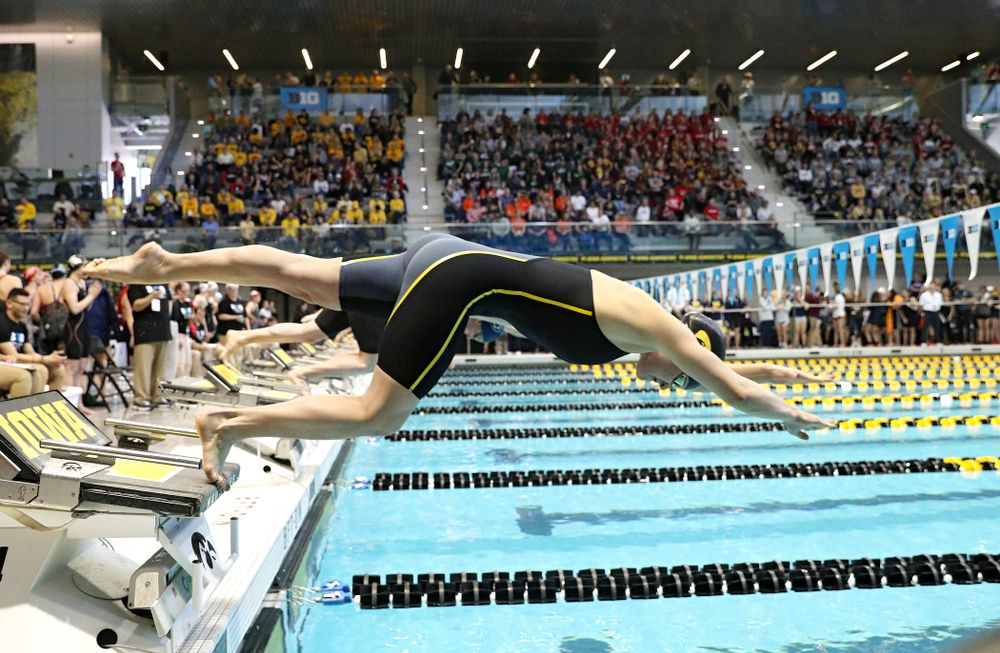 Iowa's Grace Reeder swims the women's 200 yard individual medley preliminary event during the 2020 Women's Big Ten Swimming and Diving Championships at the Campus Recreation and Wellness Center in Iowa City on Thursday, February 20, 2020. (Stephen Mally/hawkeyesports.com)