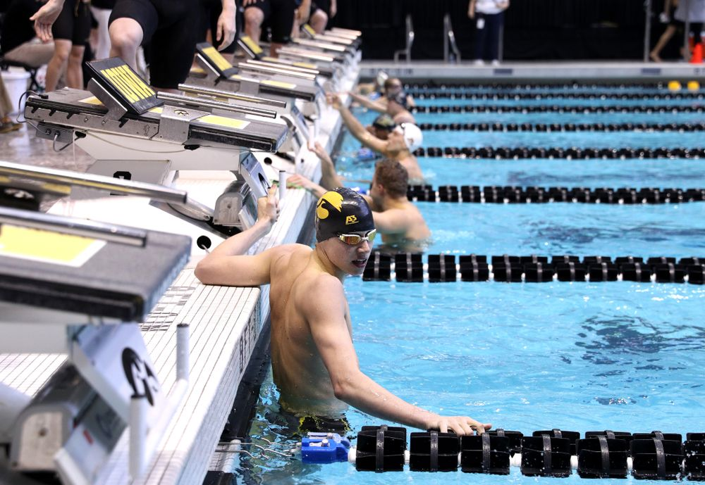 Iowa's Andrew Fierke competes in the 200-yard freestyle on the third day at the 2019 Big Ten Swimming and Diving Championships Thursday, February 28, 2019 at the Campus Wellness and Recreation Center. (Brian Ray/hawkeyesports.com)