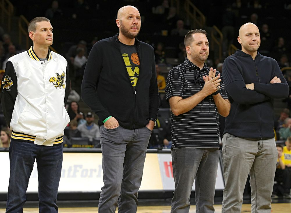 aFormer Iowa Men's Basketball Lettermen are honored during halftime of the game at Carver-Hawkeye Arena in Iowa City on Sunday, December 29, 2019. (Stephen Mally/hawkeyesports.com) during halftime of the game at Carver-Hawkeye Arena in Iowa City on Sunday, December 29, 2019. (Stephen Mally/hawkeyesports.com)