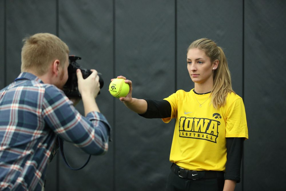 Iowa Hawkeyes Allison Doocy (3) during they team's annual media day Friday, February 1, 2019 at the Hawkeye Tennis and Recreation Complex. (Brian Ray/hawkeyesports.com)