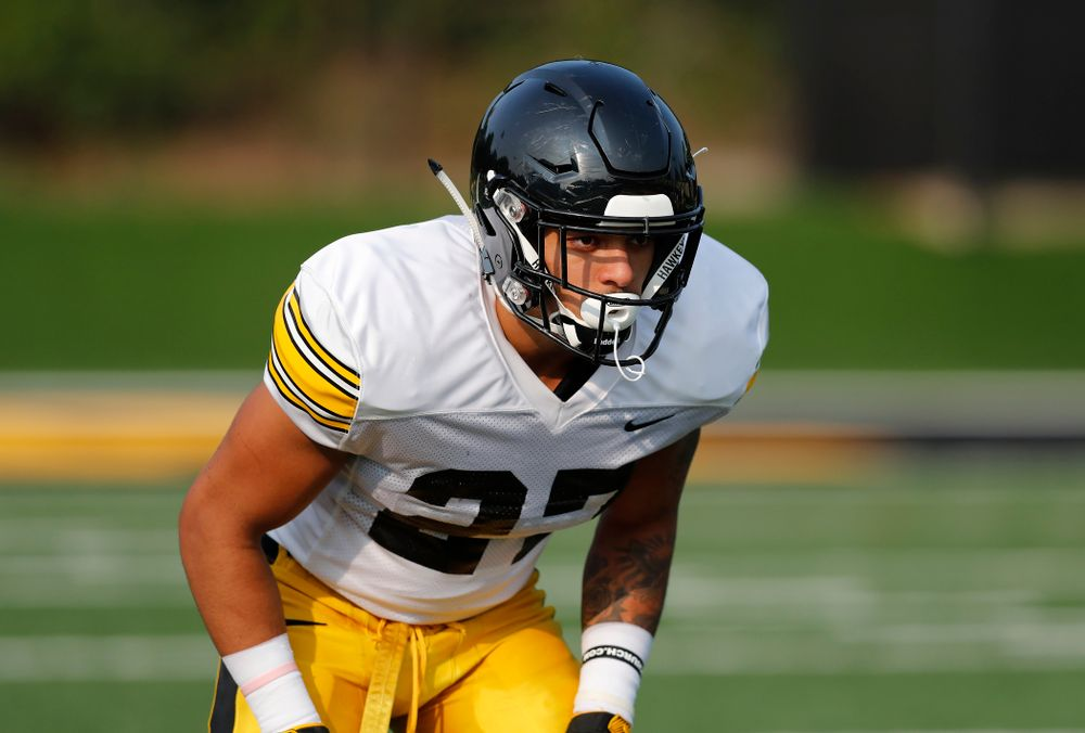 Iowa Hawkeyes defensive back Amani Hooker (27) during camp practice No. 16 Tuesday, August 21, 2018 at the Hansen Football Performance Center. (Brian Ray/hawkeyesports.com)
