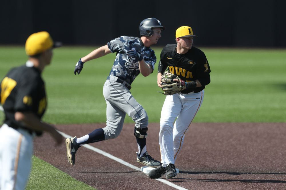 Iowa Hawkeyes infielder Brendan Sher (2) during game two against UC Irvine Saturday, May 4, 2019 at Duane Banks Field. (Brian Ray/hawkeyesports.com)