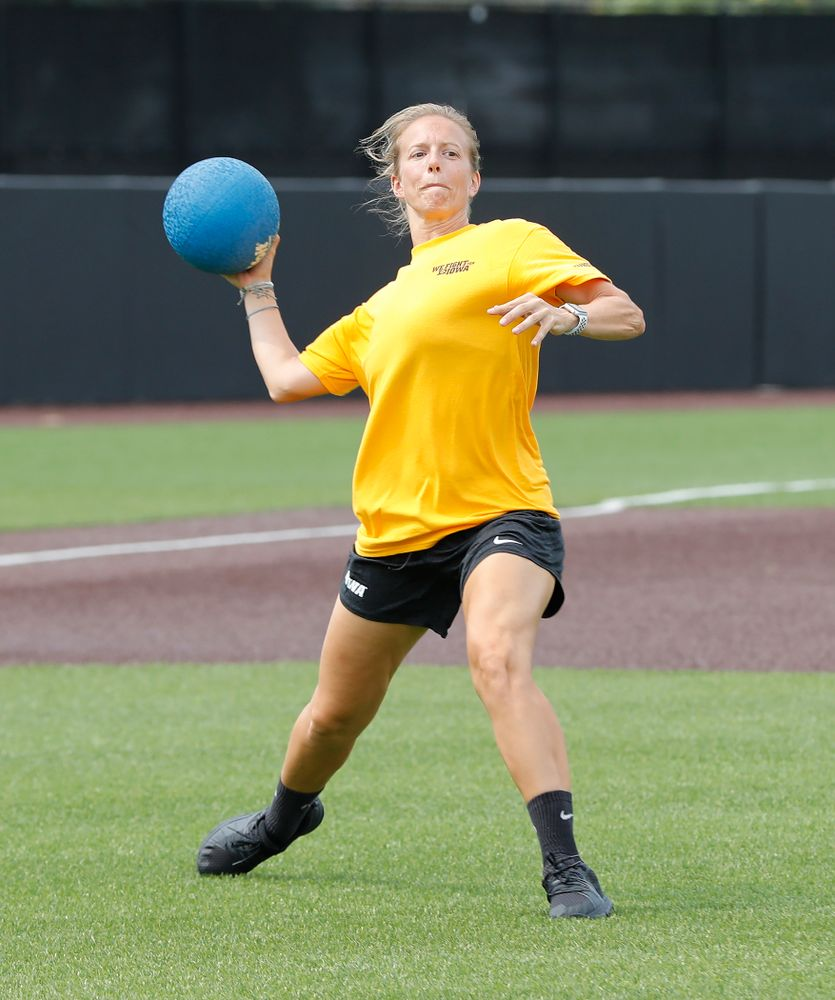 Field Hockey Asst. Coach Roz Ellis during the Iowa Student Athlete Kickoff Kickball game  Sunday, August 19, 2018 at Duane Banks Field. (Brian Ray/hawkeyesports.com)